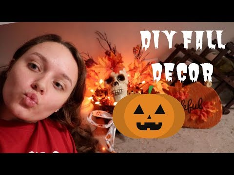 MAKING DIY FALL DECOR FROM ALL DOLLAR TREE PRODUCTS