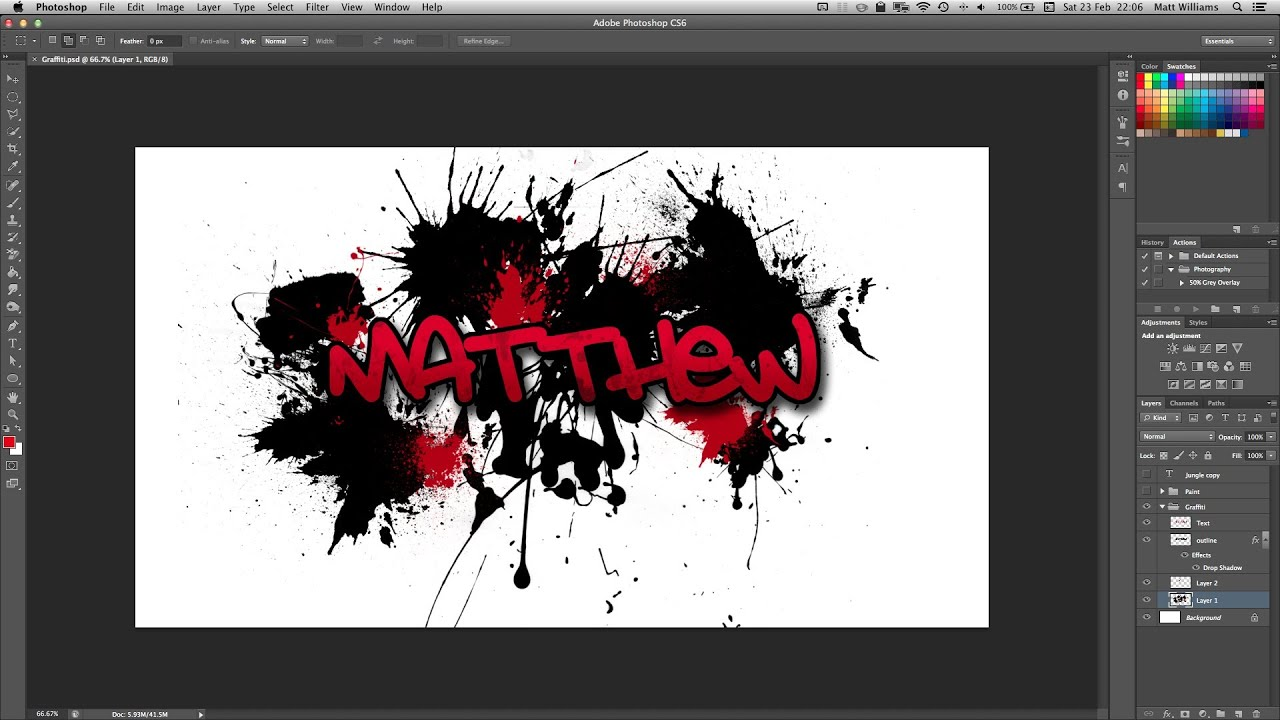 How To Make Letters Logo In Photoshop