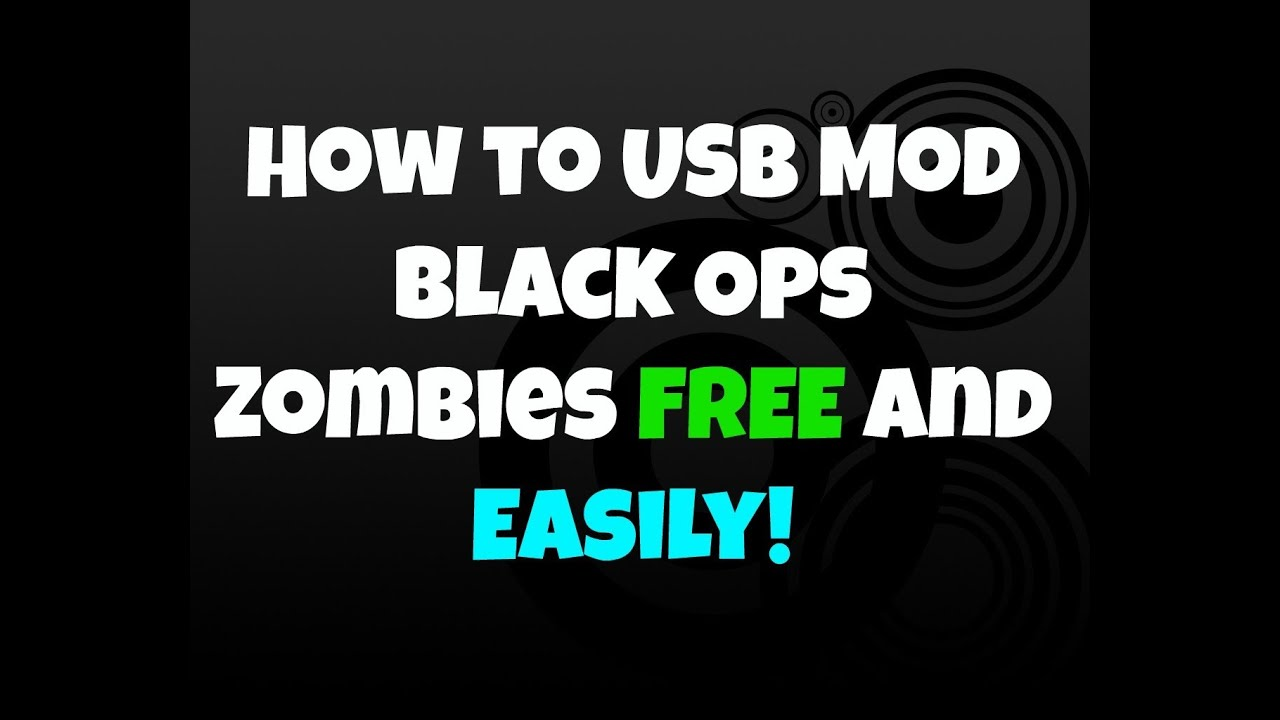 [PS3/BO1] How To Mod Black ops 1 Zombies With a USB NO ...
