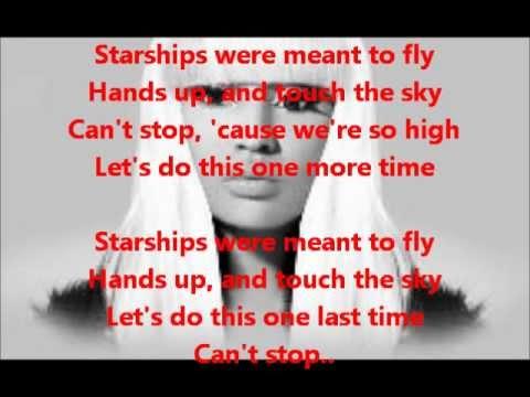 Nicki Minaj - Starships (Karaoke/Instrumental With Lyrics On Screen) [LEGIT]