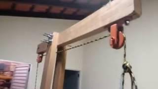 Aparelho academia de madeira começo!