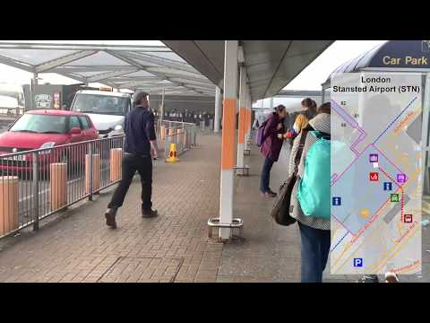 How To Get To BUSES And TRAINS At London Stansted Airport! (National Express)