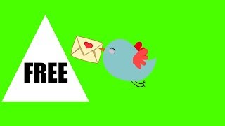 Birds With Secret Love Letter - Green Screen Footage Free