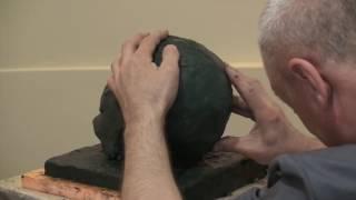Уроки скульптуры и рисунка: лепка черепа человека, часть 2 (набор массы)