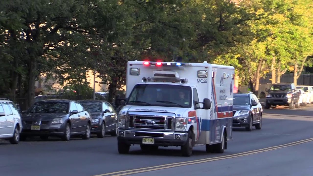 Jersey City Medical City EMS Compilation of Ambulances Responding on  Montgomery St Oct 12th 2017 by tornadochaser66