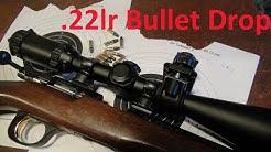 Bullet Drop .22lr 25 - 50 Metres