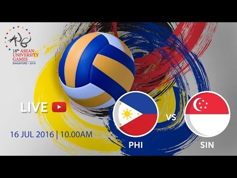 Volleyball Men's: Bronze medal Philippines vs Singapore | 18th ASEAN University Games Singapore 2016