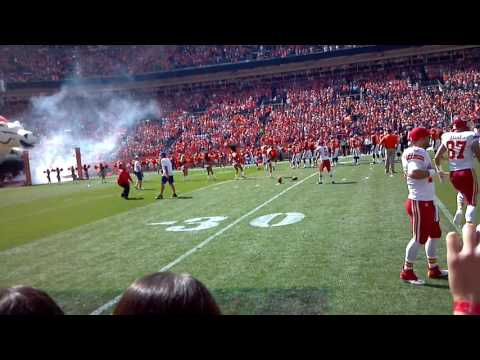 On the field @ Mile High during the Chiefs/Broncos game 9-14-14