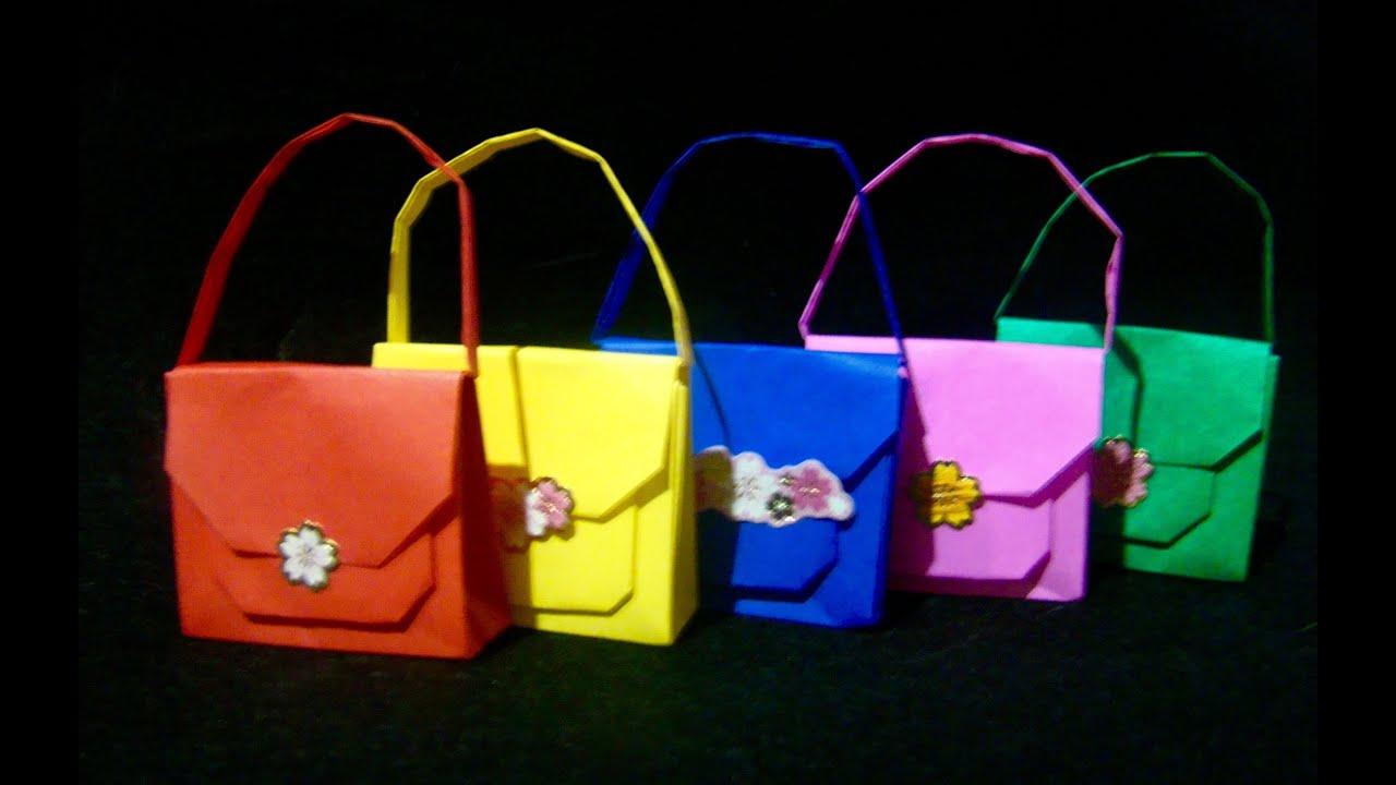Papercraft Origami Maniacs 202: Origami Handbag/ Carterita de Origami