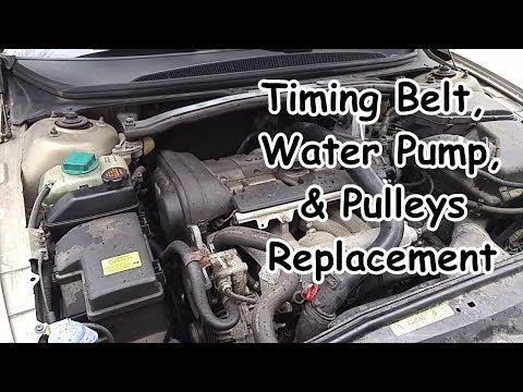 Volvo S80 Timing Belt,  Water Pump, & Pulleys Replacement
