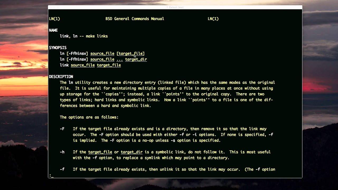 Symlinks Hard Links And Mac Aliases Unix Youtube