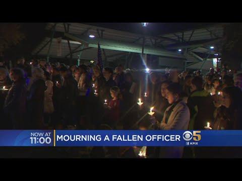 Community Mourns Slain Davis Officer At Candlelight Vigil