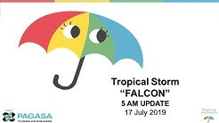 "Press Briefing: Tropical Storm ""#FALCONPH"" Wednesday, 5 AM July 17, 2019"