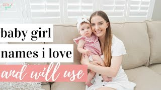 BABY GIRL NAMES I LOVE AND WILL USE 👶🏼💕🎀 | 5 Unique Baby Girl Names | Kayla Buell