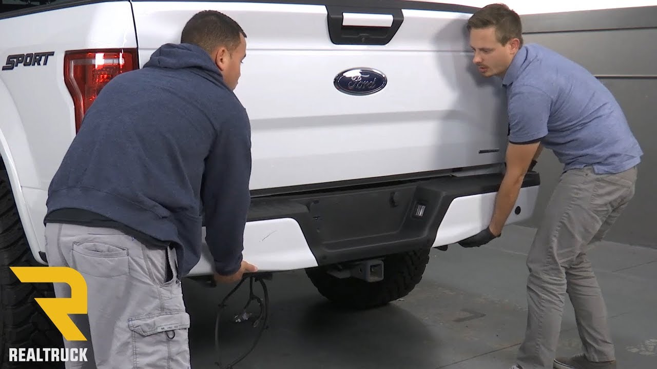 how to remove ford f 150 factory rear bumper [ 1280 x 720 Pixel ]