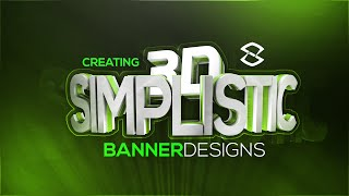 Cinema4D/Photoshop Tutorial: Creating Simplistic 3D Banners