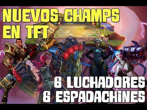 TFT 4 NUEVOS CAMPEONES | Partida de LOCURA 6 Luchadores y 6 Espadachines en el mismo equipo xDDD