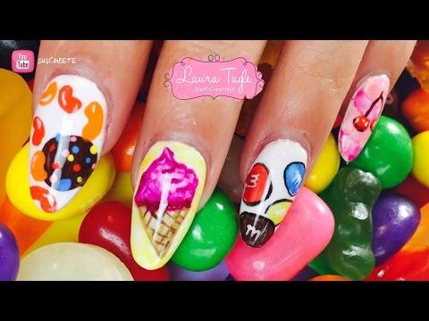 Candy Crush Nail Art / Dulces En Uñas