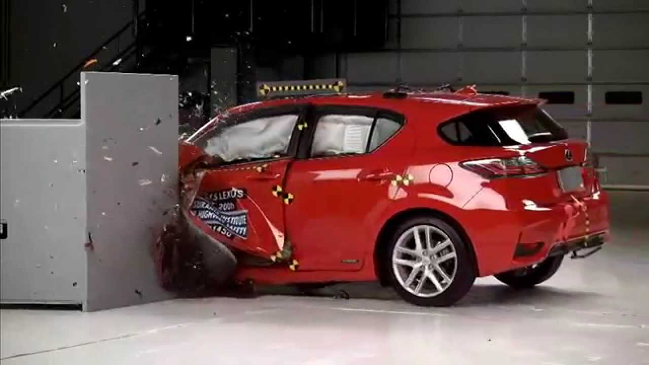 2017 Lexus Ct 200h Hybrid Iihs Narrow Overlap Crash Test You