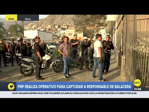 Policía capturó a sospechoso de matar a dos agentes en el Rímac
