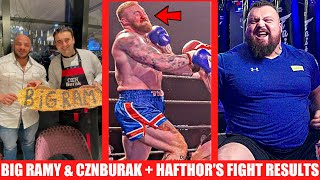 Hafthor Vs Steven Fight Results + Eddie Hall Reacts to Thor's Comments + Big Ramy Celebrity Collab