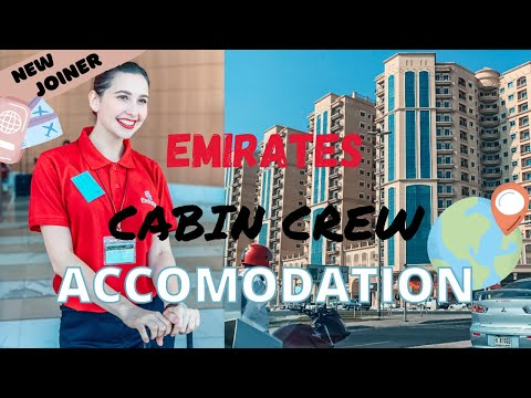 Emirates Cabin Crew Accommodation & Transportation | Dubai | My first accommodation | Part 1