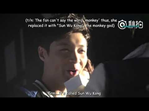 [ENGSUB] 160111 Yixing & fans' game segment - Pancoat Press Con