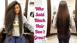 Who Said Black Hair Don't Grow? Black Beauty Hair is to Her Butt!