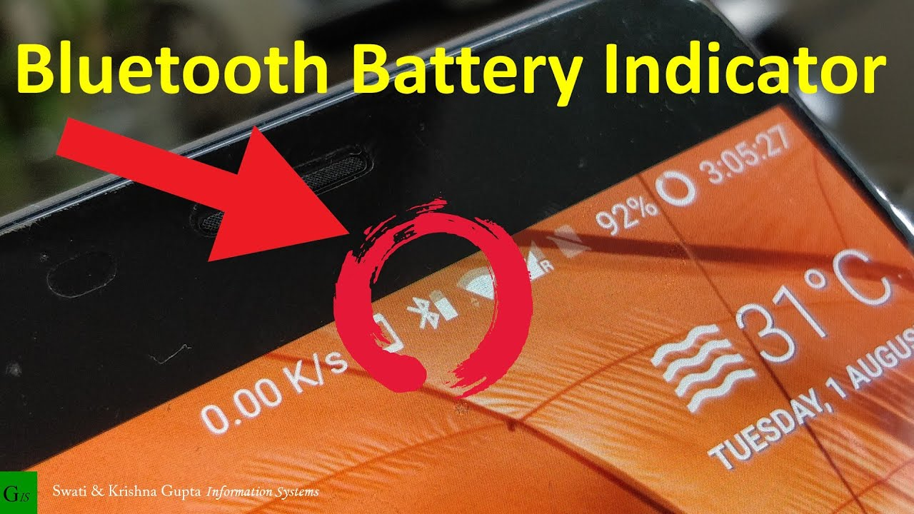 Bluetooth Battery Level Indicator on Status Bar (Android 4 4+, No ROOT)