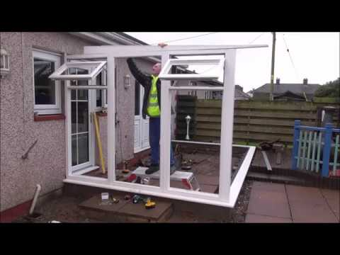 Build a conservatory p2 Erecting the frames