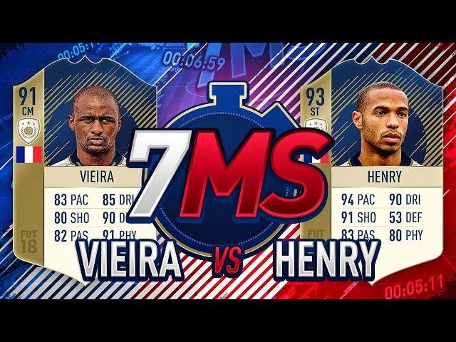 PRIME 93 HENRY VS PRIME 91 VIEIRA!!! THE ULTIMATE 7 MINUTE SQUADS!!!