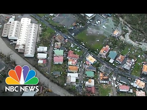 Aerial Footage Of Dominica Captures The Destruction Of Hurricane Maria | NBC News
