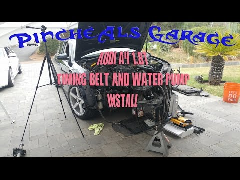 How to Install a Timing belt, water pump on a 02 Audi A4 1.8t DIY Episode 3 Season 3