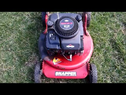 "Snapper 21"" 5HP Quantum Briggs & Stratton Lawn Mower Rusted Out Frame - March 10, 2014"