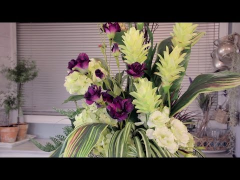 Arranging with Tall Tropical Forms Floristry Tutorial