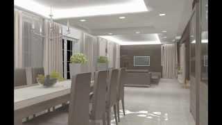Pokazanie Stref Oświetleniowych - Salon/Jadalnia