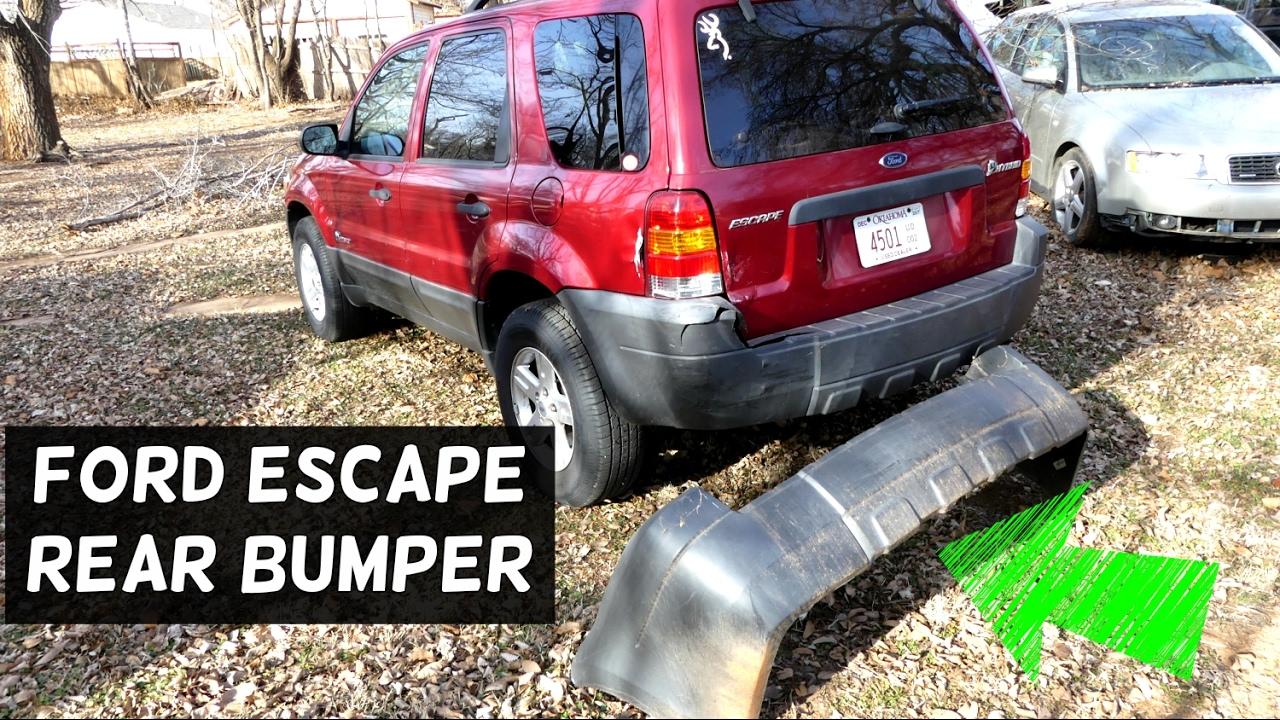 Ford Escape Rear Bumper Removal Replacement 2001 2002 2003 2004 2005 2006 2007