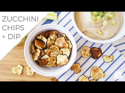 How To Make Baba Ghanoush Hummus & Zucchini Chips | Healthy Grocery Girl Cooking Show