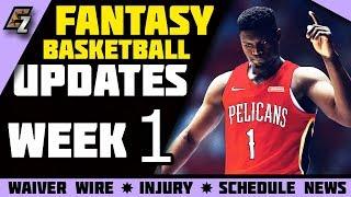 Week 1 Fantasy Basketball Update/Schedule/Waiver Wire Pickups 2019-2020