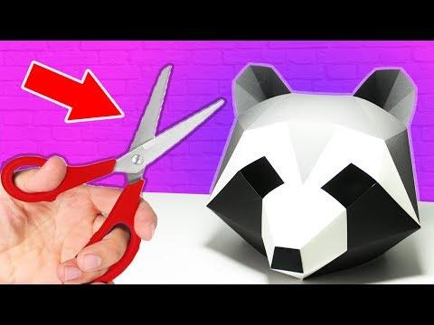 Как сделать 3д маску из бумаги