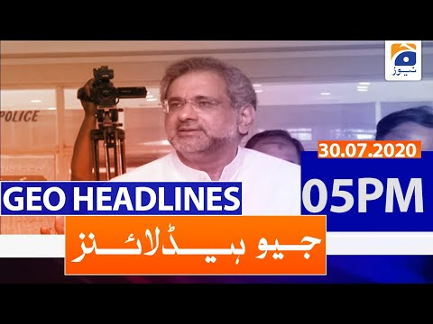 Geo Headlines 05 PM   30th July 2020