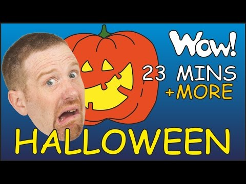 Halloween Songs + MORE Stories for Kids | English for Children | Steve and Maggie