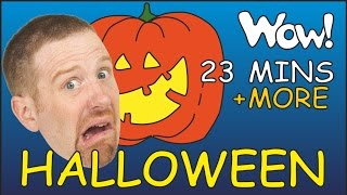 Halloween Songs + MORE Stories for Kids | English for Children | Steve and Maggie thumbnail