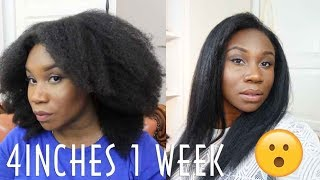 I GREW MY HAIR 2 INCHES IN 1 WEEK ?! | 4c natural Hair