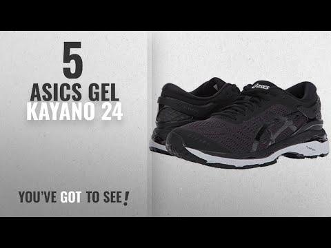 top-5-asics-gel-kayano-24-[2018]:-asics-women's-gel-kayano-24-running-shoe,-black/phantom/white,-8
