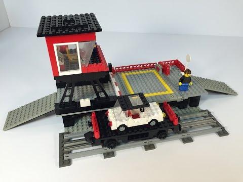LEGO 12V Train 7839 Car Transport Depot from 1986!