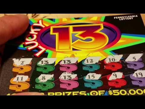 ((NICE WINNER)) $2 LUCKY 13 TICKETS~PA LOTTERY SCRATCH OFF INSTANT GAMES