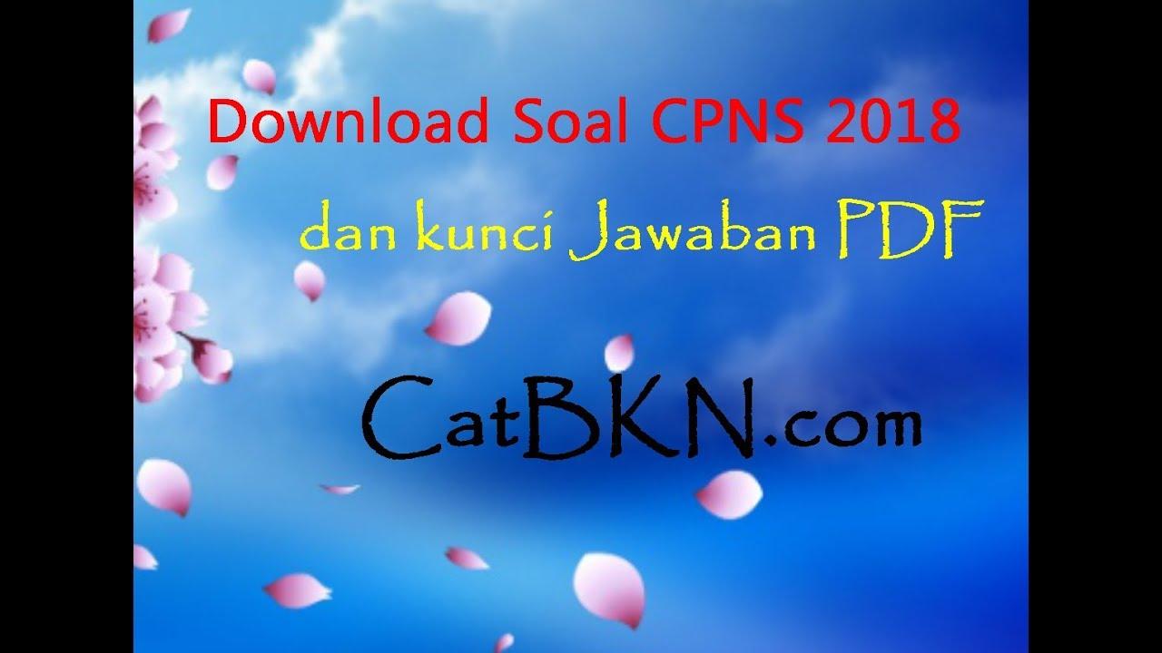 Download Soal Cpns 2018 Dan Kunci Jawaban Pdf Icpns