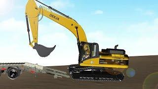 การ์ตูน 3D เรียนรู้รถแม็คโครขุดดิน สื่อการเรียนรู้สำหรับเด็ก Excavator Learning