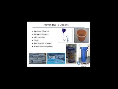 Webinar on Household Water Treatment